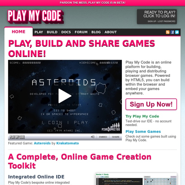 Play, Build and Share games online!