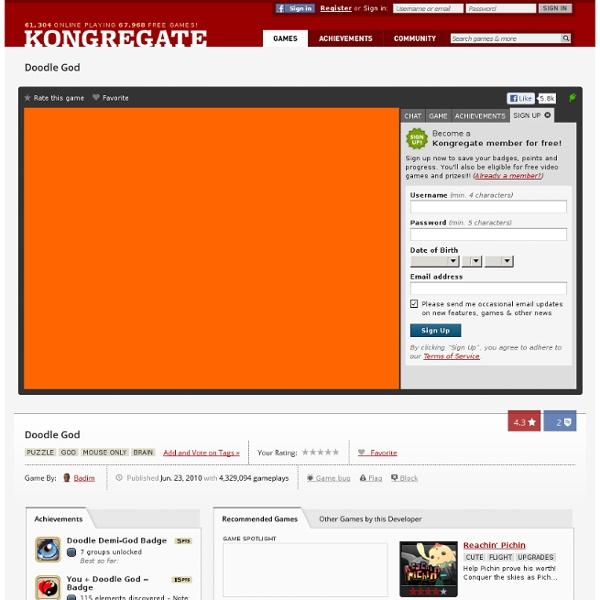Play Doodle God, a free online game on Kongregate