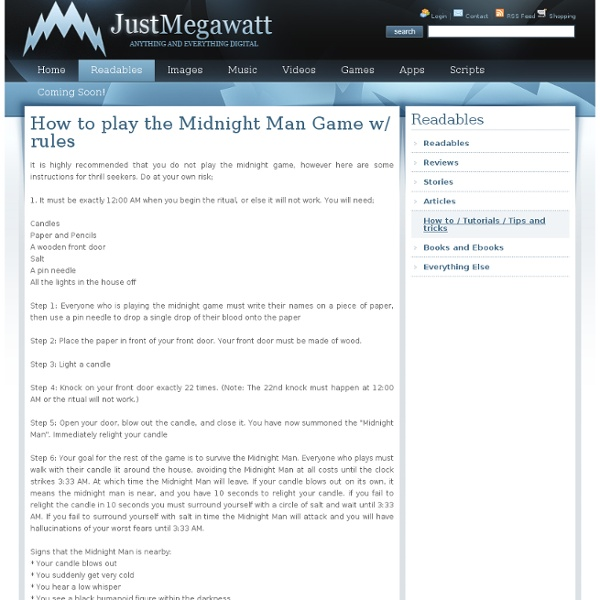 How to play the Midnight Man Game with Rules