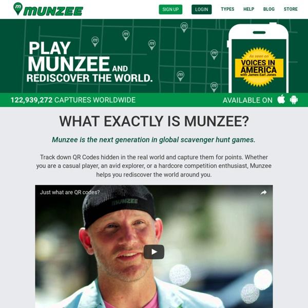 Munzee. 21st Century Scavenger Hunt.