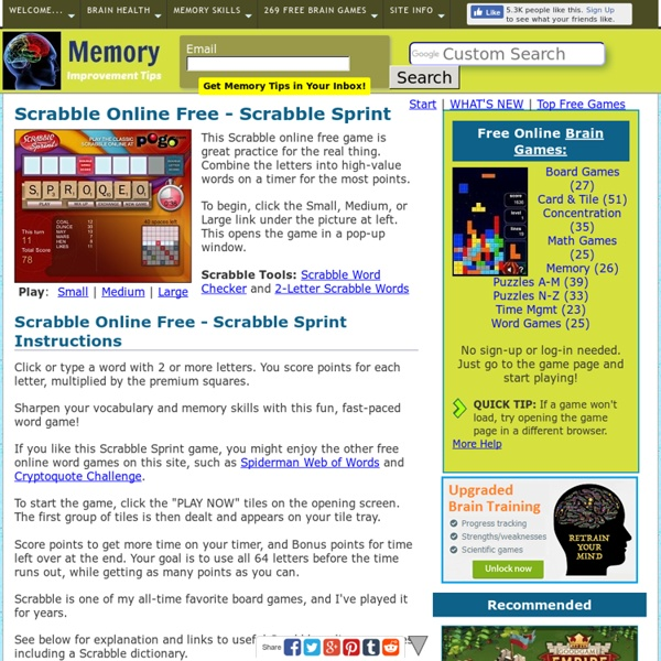 Play Scrabble Online free - Scrabble Sprint game