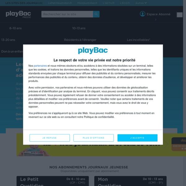 PlayBac Presse : Quotidiens d'actualité et fiches pour enfants