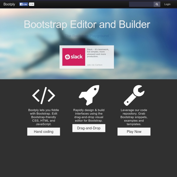 Bootstrap Editor and Playground for JavaScript, CSS, HTML5 and jQuery.