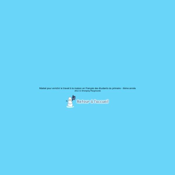 Emerging Playgrounds - Jeux de conjugaison 6ème année ver1.0