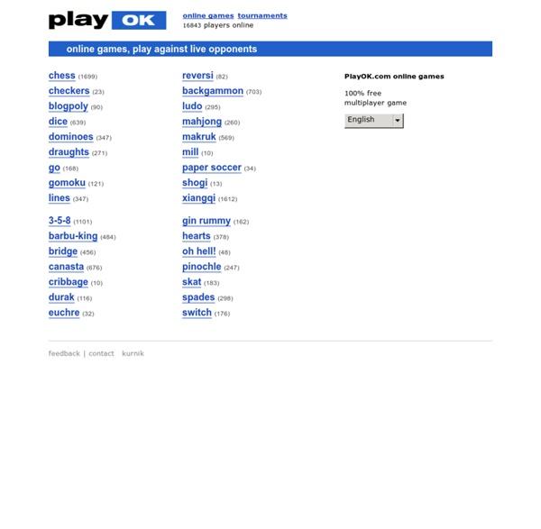 PlayOK - Free Online Games