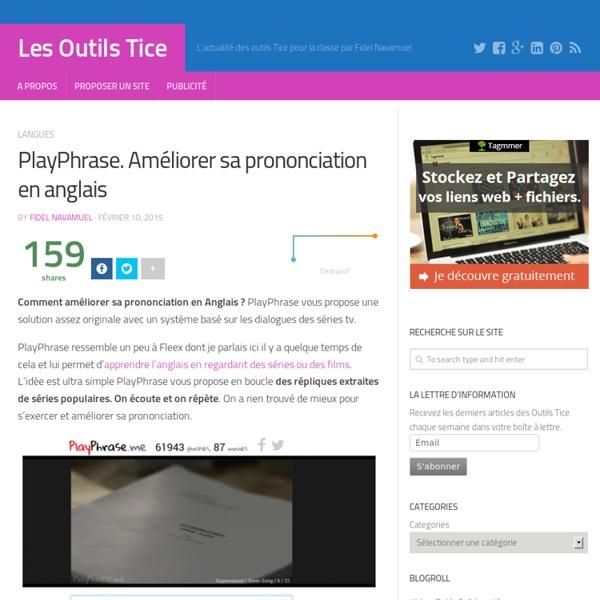 PlayPhrase. Améliorer sa prononciation en anglais