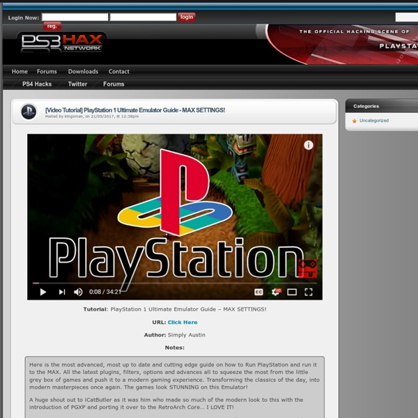 Playstation 3 (PS3) Hacking and Modding Community - PS3 Hacks, Mods, Homebrew
