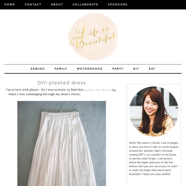 DIY-pleated dress