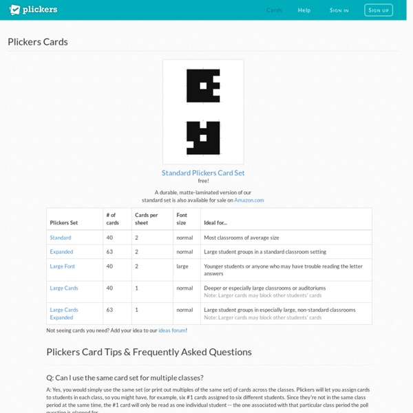 Plickers - Clickers, Simplified