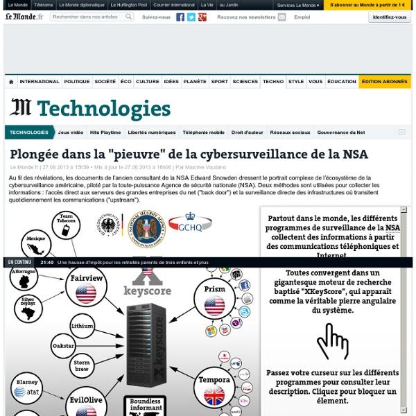 "Plongée dans la ""pieuvre"" de la cybersurveillance de la NSA"