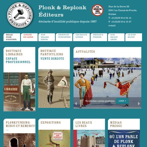 Plonk & Replonk Editeurs - Belle page d'accueil
