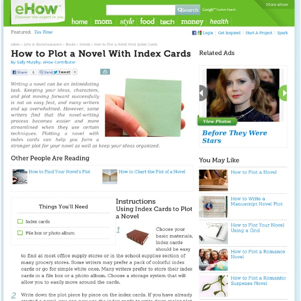 How to Plot a Novel With Index Cards