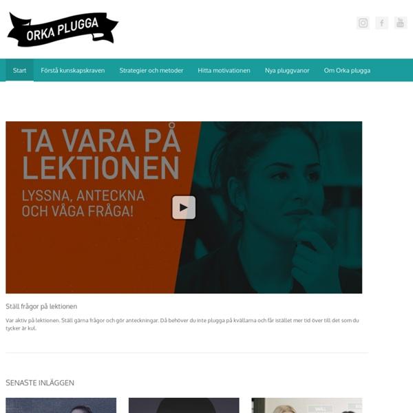 En webbplats om studieteknik från UR