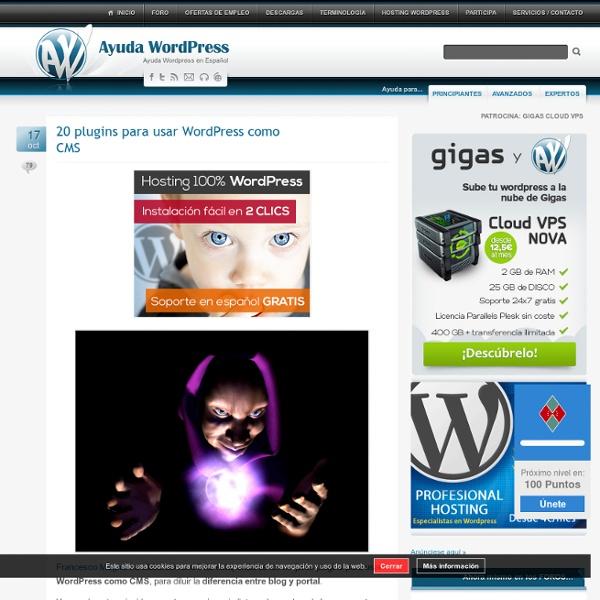 20 plugins para usar WordPress como CMS