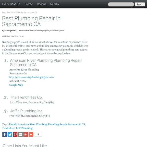 Best Plumbing Repair in Sacramento CA