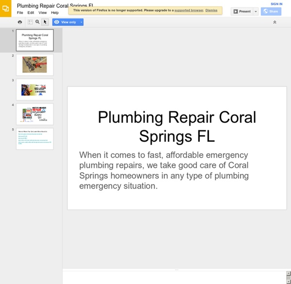 Plumbing Repair Coral Springs FL
