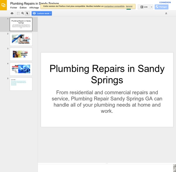 Plumbing Repairs in Sandy Springs