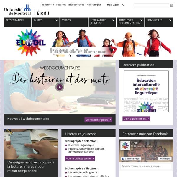 Élodil - Enseigner en milieu pluriethnique et plurilingue - Université de Montréal