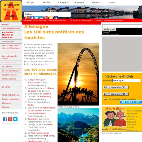 Allemagne : les 100 plus beaux sites touristiques
