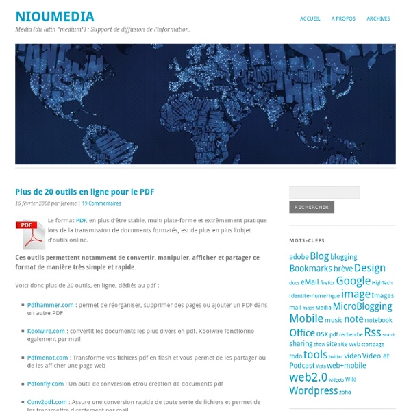 Plus de 20 outils en ligne pour le PDF