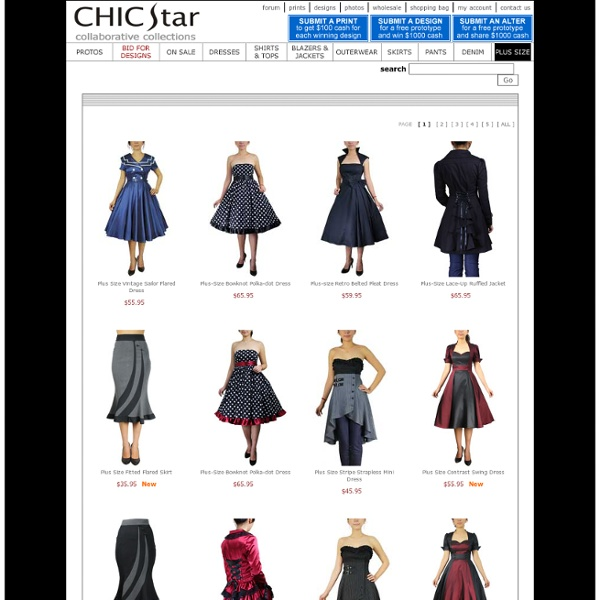 PLUS SIZE-Vintage Clothing by ChicStar.com