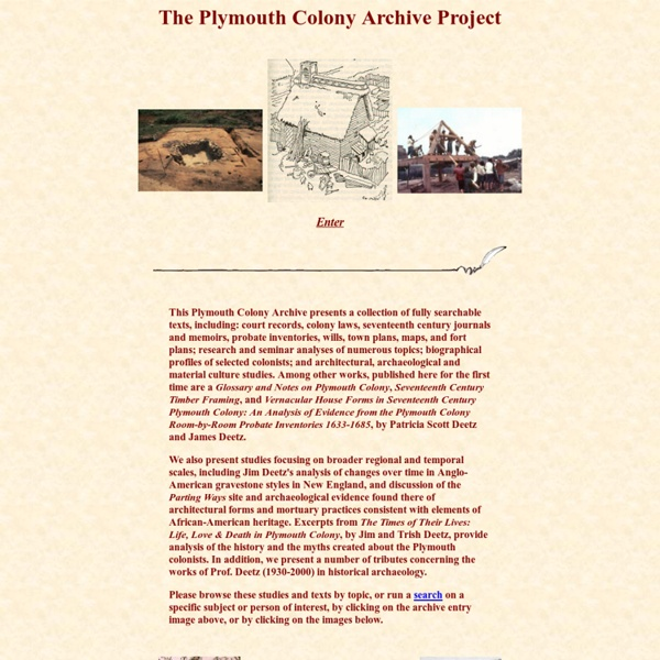 The Plymouth Colony Archive Project