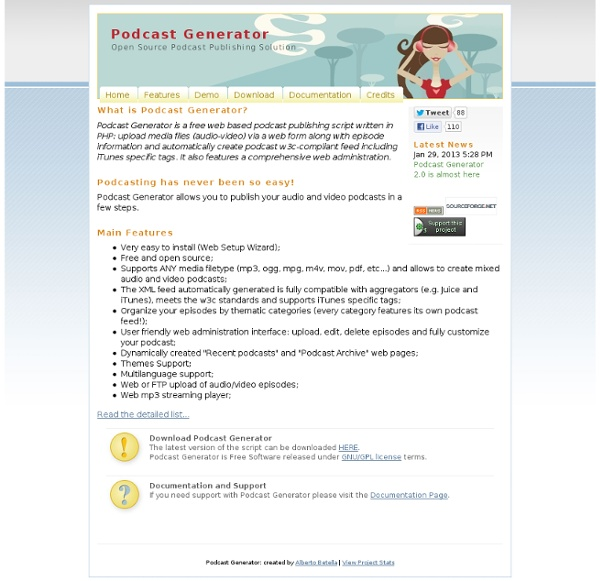 Podcast Generator - Open Source Podcast Publishing Solution