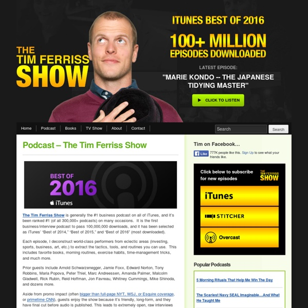 Podcast – The Tim Ferriss Show