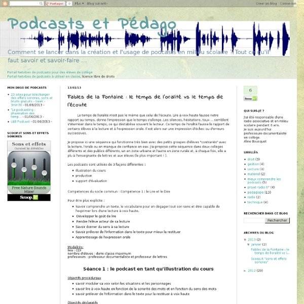 Fables de la Fontaine : le temps de l'oralité vs le temps de l'écoute