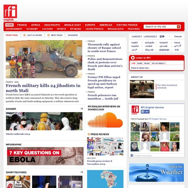 News, info, live, podcasts - Radio France Internationale - RFI