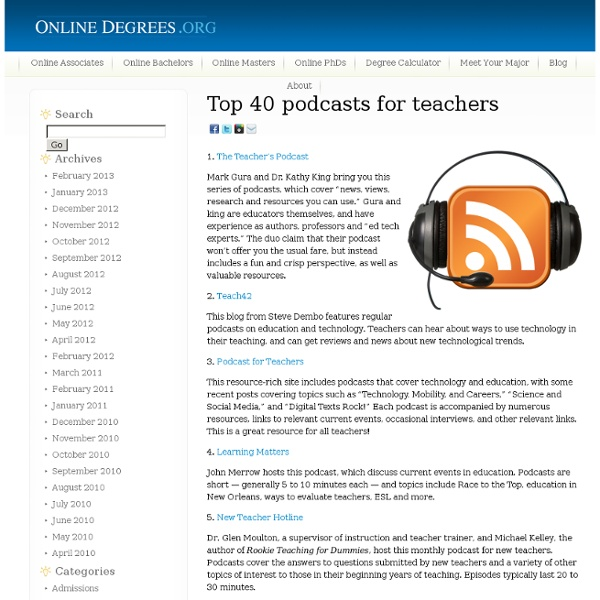 Top 40 podcasts for teachers