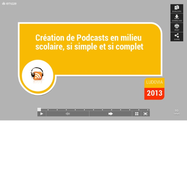 PODCATS Ludovia 2013-emaze-amazing presentations in minutes