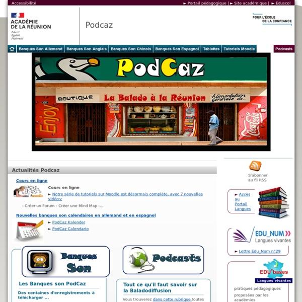 Podcaz - Banque de sons LVE pour baladodiffusion