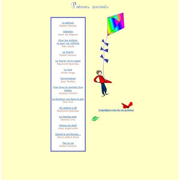 Des poèmes pour enfants (animations flash)