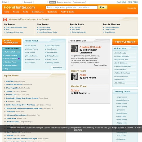 PoemHunter.Com - Thousands of poems and poets. Poetry Search Engine