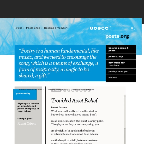 Poets.org - Poetry, Poems, Bios & More