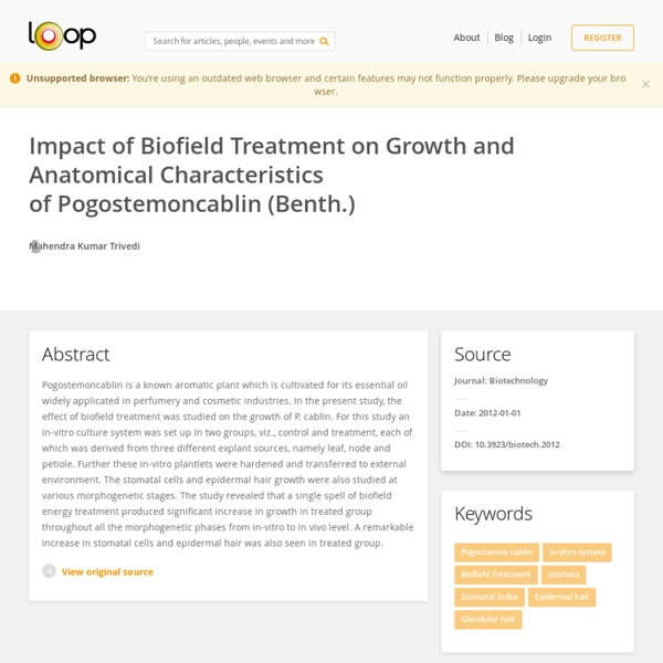 Study of Pogostemon Cablin Growth