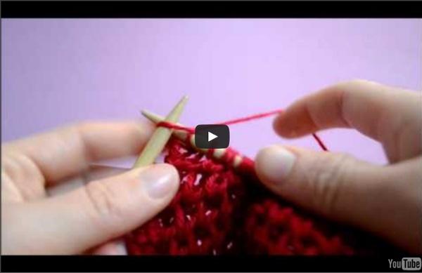 Le point d'alvéole au tricot
