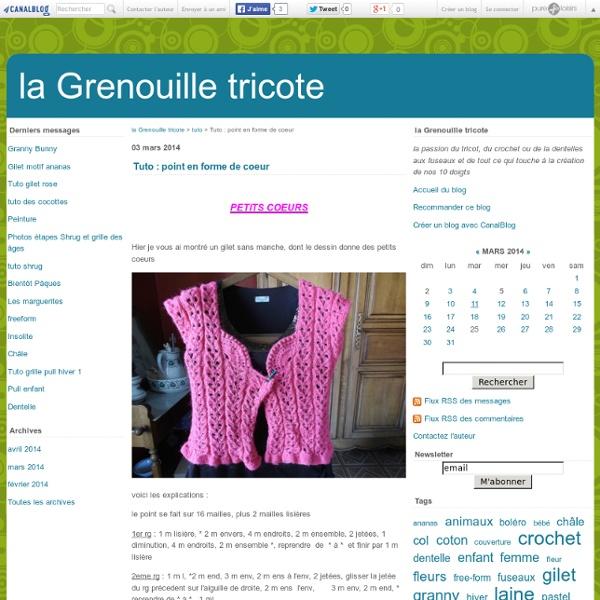 Tuto Point En Forme De Coeur La Grenouille Tricote