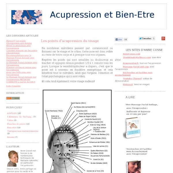 Les points d'acupression du visage - Acupression et Bien-être