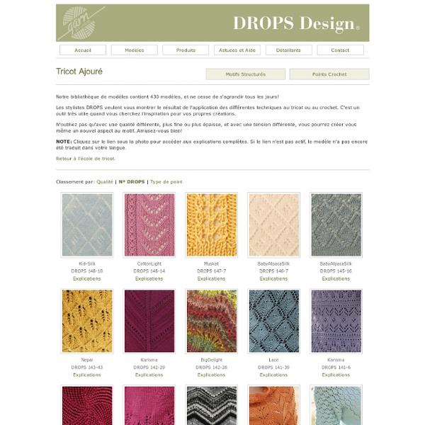points de tricot drops tricot ajour pearltrees. Black Bedroom Furniture Sets. Home Design Ideas