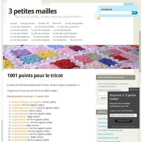 1001 points pour le tricot