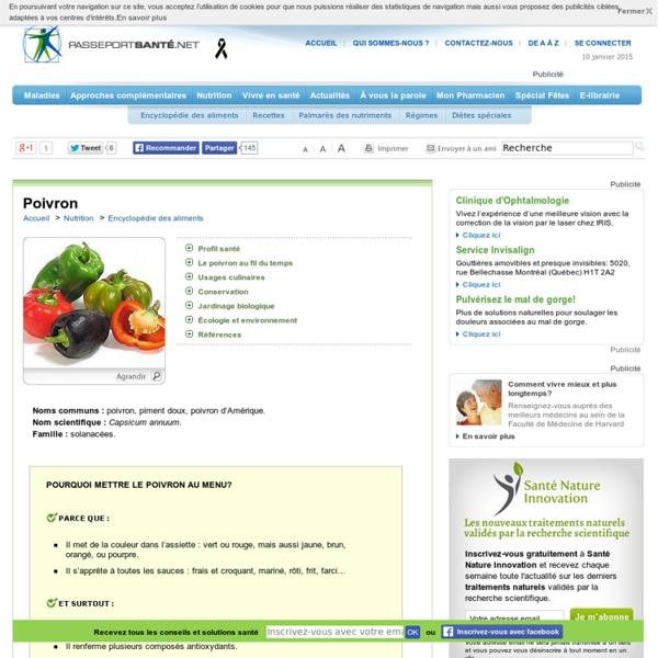 Le poivron rouge, jaune, vert : gorgé de vitamines !