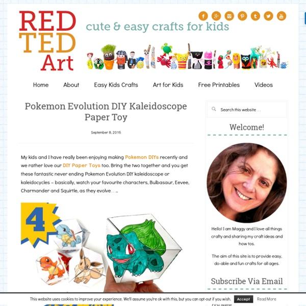 Pokemon Evolution DIY Kaleidoscope Paper Toy