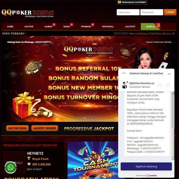 QQ Poker Domino: Situs Judi IDN Poker Online Terpercaya