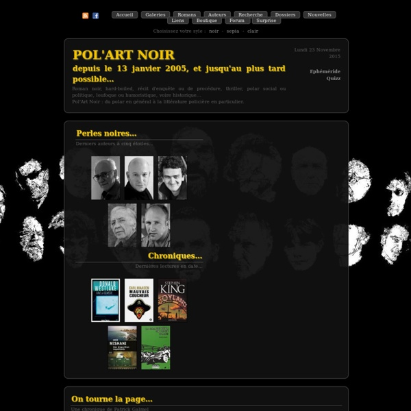 Pol'Art Noir - Du polar en général au roman noir en particulier