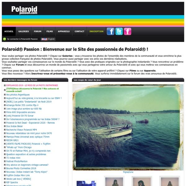 Polaroid® Passion - Le site des passionnés de Polaroid®
