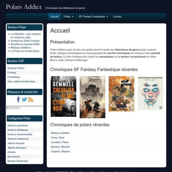 Polars Addict : Chroniques des littératures de genre