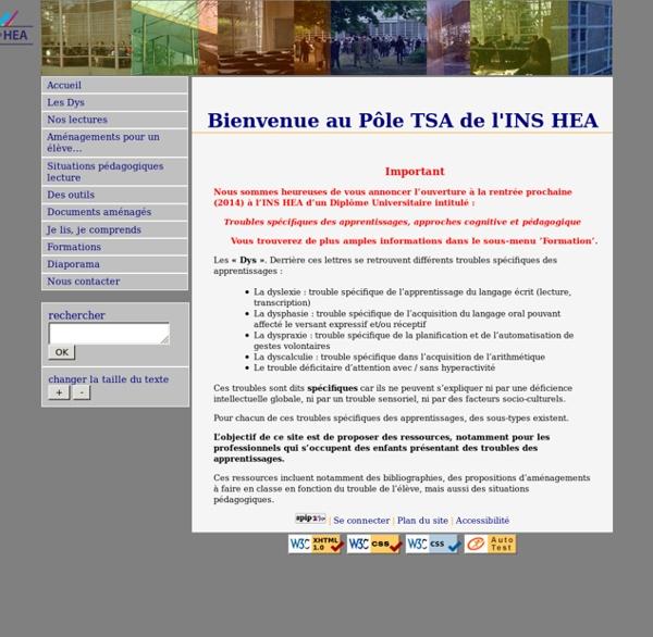 Pôle TSA de l'INS HEA