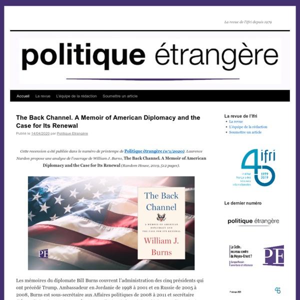 Politique-etrangere.com - blog de la revue Politique Etrangère